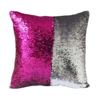 mermaid colour changing sequin pillow cushion hot pink and cushion