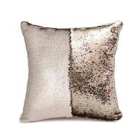 mermaid colour changing sequin pillow cushion matte ivory cushion