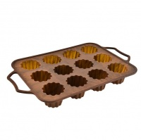 12 cups non stick silicone muffin and cupcake baking molds hob