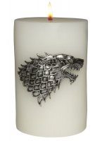 game of thrones house stark sculpted insignia candle lighting