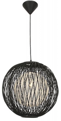 Photo of Bright Star Lighting Black Outer Bamboo Cover with Natural Inner Twine