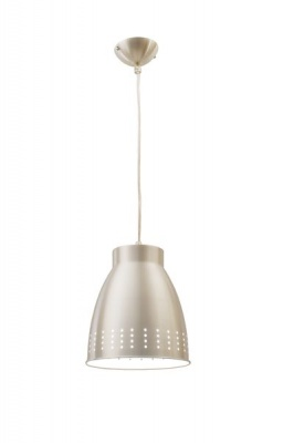 Photo of Bright Star Lighting Aluminium Dome Pendant with Transparent Cord - 160mm