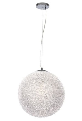 Photo of Bright Star Lighting Polished Chrome Pendant with Clear Acrylic Crystals