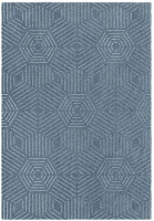 rugs original chill blue hexagon design patio furniture