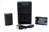 canon beston usb dual charger and 2 battery kit for lp e6 camera accessory
