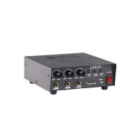 amplifier 30w 12vdc 4 8 ohm 2xmic and 1 x aux in sd usb pa system