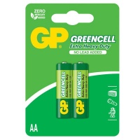 gp batteries greencell carbon zinc aa card of 2 camera accessory