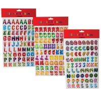 bulk pack x 3 sticker letter and number sticker