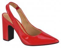vizzano block heel red shoe