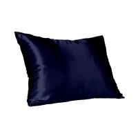 navy satin pillow slip standard mattress