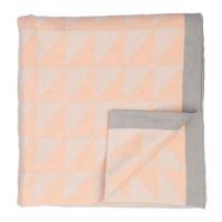 triangle geometric blanket peach blanket