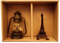 Gift Box Eiffel Tower Lantern
