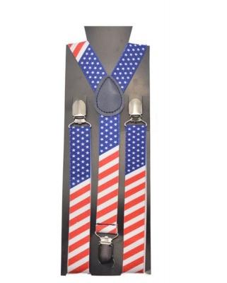 Unisex Suspenders Braces American Flag