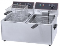 conic 12l stainless steel electric deep fryer with lid