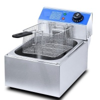 conic 6l stainless steel electric deep fryer with lid