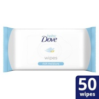 baby dove rich moisture wipes 12 x 50 wipe