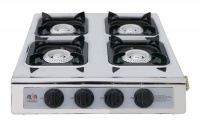 alva 4burner gas stove silverblack braai accessory