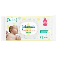 johnson and baby cotton touch wipes 12 x 72s wipe