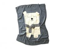 fox fable breezy polar bear blanket in gift tin blanket