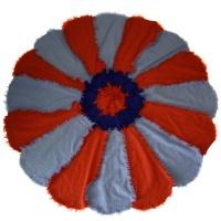 flannel rag quilt cushion