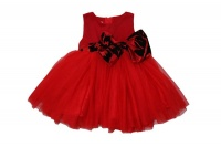 sp0107 red dress black and bow