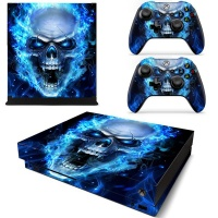skin nit decal for xbox one s blue skull