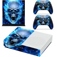 skin nit decal for xbox one x blue skull