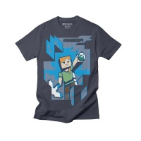 Minecraft Mine Alex Youth Tshirt Navy