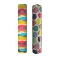 gifts warp set of 2 stripe and polka gift wrap