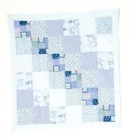 baby comforter blue pillowcase