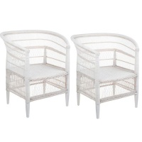 bespoke and co malawi cane chairs set of 2 chair