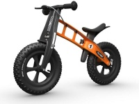 firstbike fatbike orange balance bike neck brace