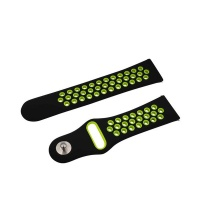 black and green large fitbit versa strap silicone nike accessory
