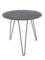 george and mason pewter hairpin side table table