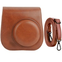 5by5 retro pu leather case and strap for fujifilm instax bags case