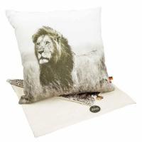 scatter cushion cover lion 40 x 40cm cushion