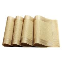 4 Piece Heat Resistant Washable PVC Placemats Table Mats Gray