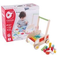 classic world baby walker with building blocks walker