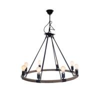 retro style rope light chandelier home decor