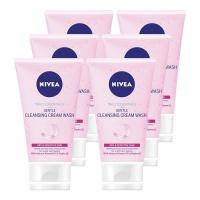 NIVEA Daily Essentials Gentle Cleansing Cream Wash 6 x 150ml