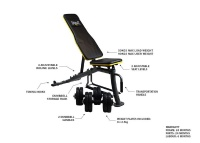 everlast core dumbbell bench with 2 handles and