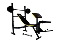 everlast power core bench with barbell and 282kg weights