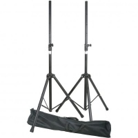 speaker stands steel set of 2 in carry bag audio accessory