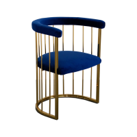 bespoke and co velvet gold cage chair royal chair