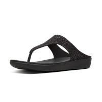 banda crystalled black shoe