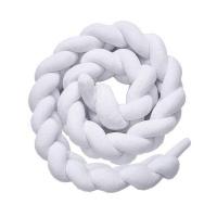 cot bed braided bumper white 2m decor