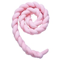 cot bed braided bumper pink 2m decor