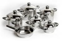 Capri 11 Piece Millennium Cookware Set 1810 Stainless Steel
