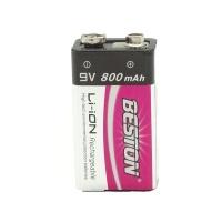 Beston 9 Volt Li ion Rechargeable Battery