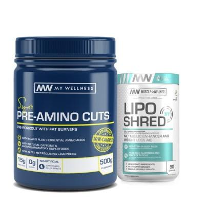 Photo of My Wellness Pre-Amino Cuts 500g Citrus LipoShred XT 90 caps Combo